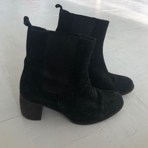 Black Suede Frye Boots